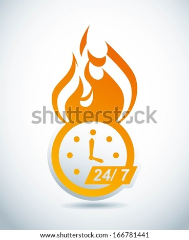 time design  over gray background vector illustration   - stock vector