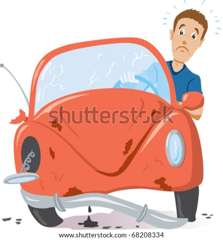 Time for a new car - stock vector