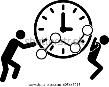 Time Growth Icon Flat Design Business Stock Vector 656815135