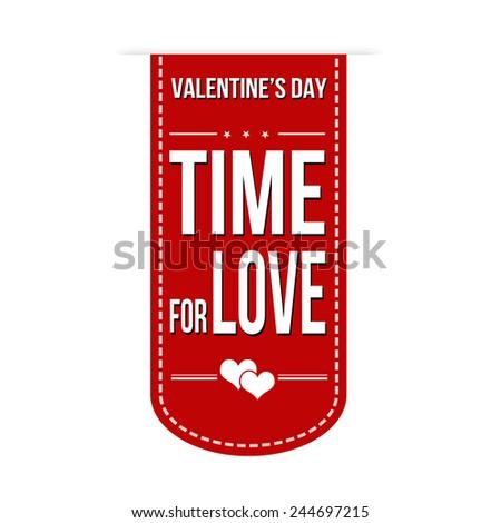 Time for love banner design over a white background, vector illustration - stock vector