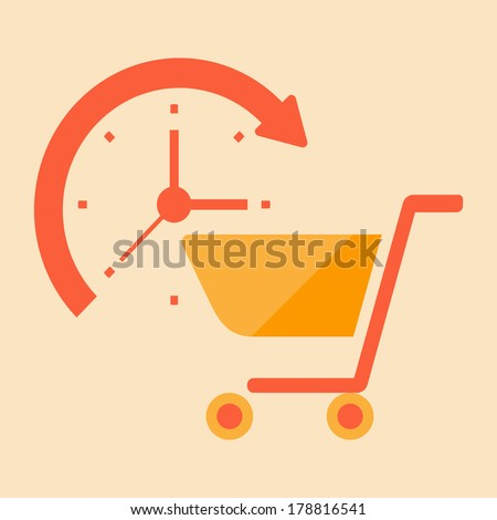 time for shopping - stock vector