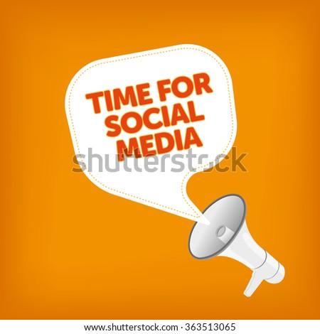 TIME FOR SOCIAL MEDIA - stock vector