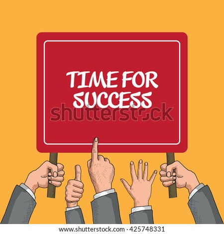 Time For Success - stock vector