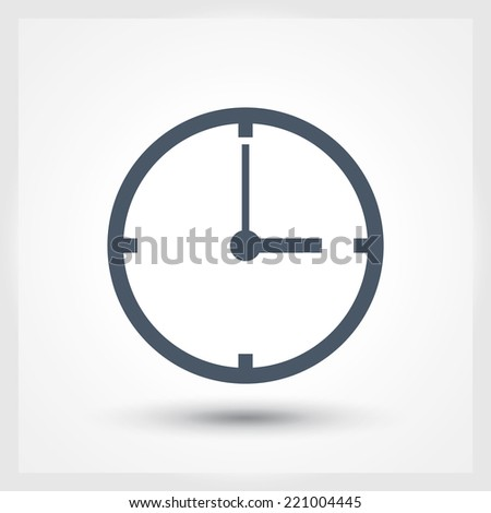 Time icon - stock vector
