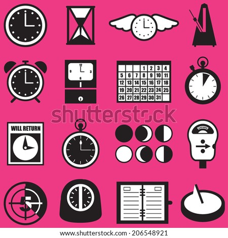 Time Icon Concepts and Symbols - stock vector
