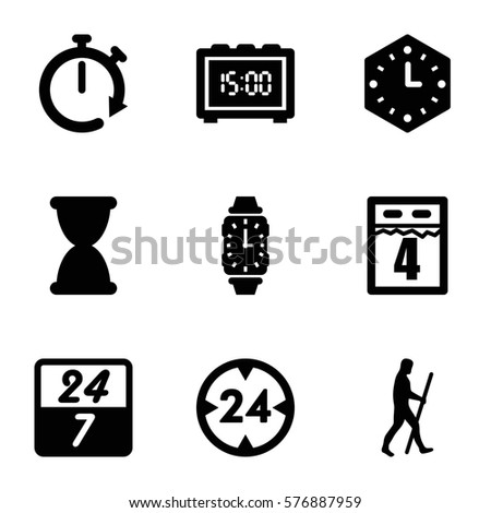 Operator Icons Set Set 9 Operator Stock Vector 590807378