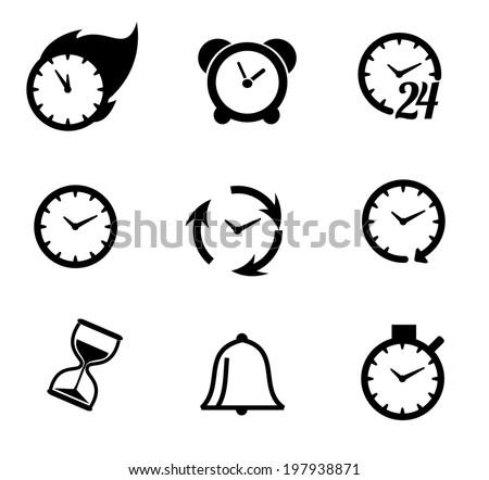 Time icon set vector - stock vector