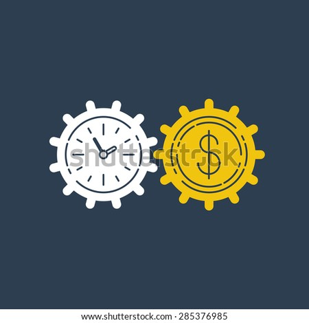 Time is money - stock vector