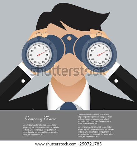Time is money business concept - stock vector