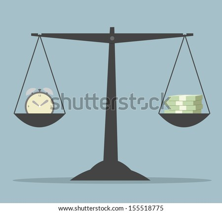Time is money. Business concept. Vector eps10 illustration.  - stock vector
