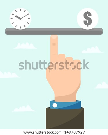 Time is money. Business concept. Vector illustration. - stock vector