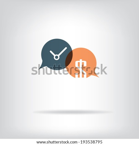 Time is money business metaphor concept. Eps10 vector illustration. - stock vector