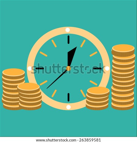 Time is money concept illlustration - stock vector