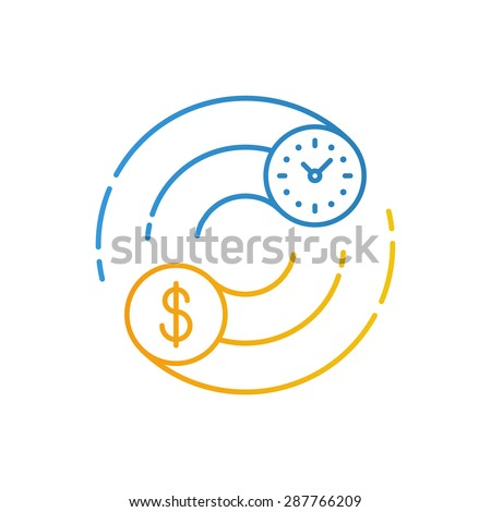 Time is money concept. Internship, savings account, future investments. - stock vector