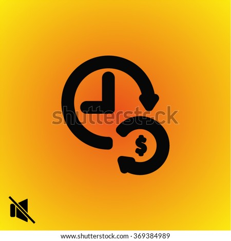 time is money . line vector icon - stock vector