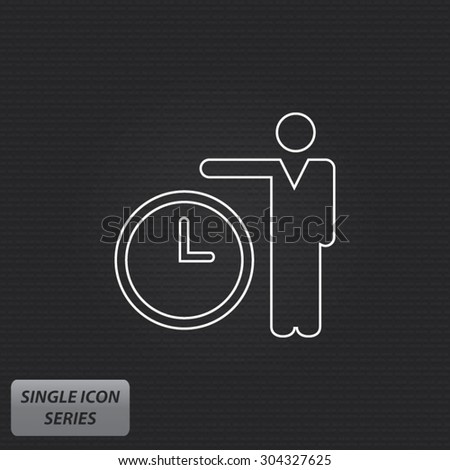 Time Is Money - Single Icon Series - stock vector
