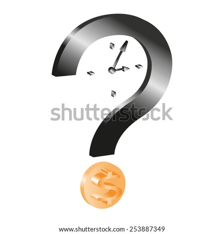 time is money:this is the question. - stock vector