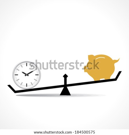 time is more important than money concept vector - stock vector