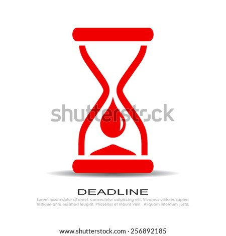 Time is over icon - stock vector
