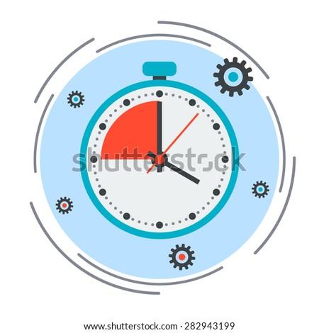 Time limit, deadline, countdown flat design style vector concept illustration - stock vector
