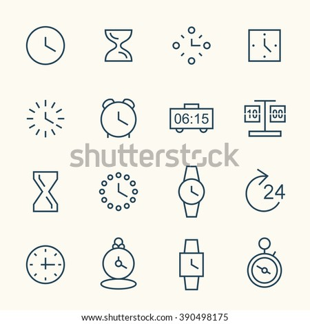 Time line icons - stock vector