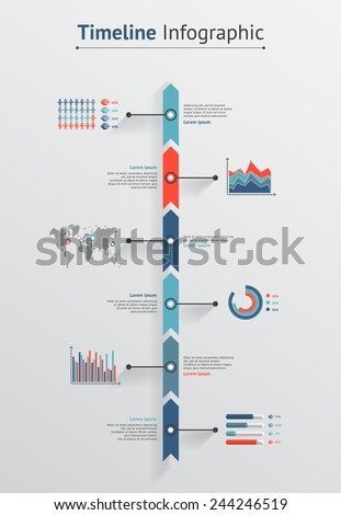 Time line vector infographic - stock vector