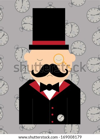 Time man  - stock vector