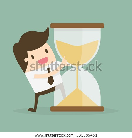 Time Management. Business Concept Cartoon Illustration.