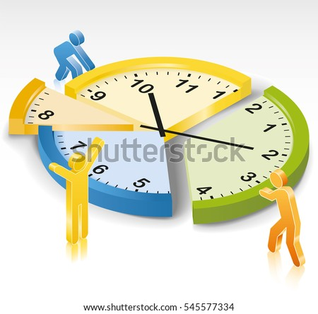 time management clock slices stock vector hd royalty free rh shutterstock com student time management clipart bad time management clipart