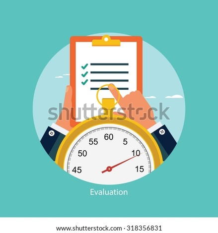 Time management concept - stock vector
