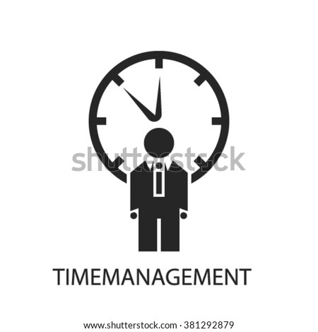 time management icon, time management logo, time management icon vector, time management illustration, time management symbol, time management isolated, time management image, time management concept  - stock vector