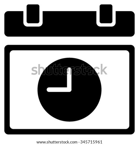 Time Schedule vector icon. Style is flat symbol, black color, rounded angles, white background. - stock vector