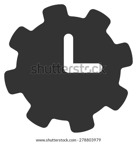 Time settings icon from Business Bi color Set. This isolated flat symbol uses gray color. - stock vector
