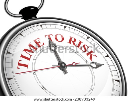 time to risk concept clock isolated on white background - stock vector
