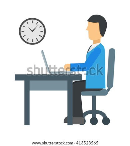 Time working clock business hour concept vector. Time to work clock business and hour concept time to work. Time to work deadline office businessman watch. Time to work success worker corporate. - stock vector
