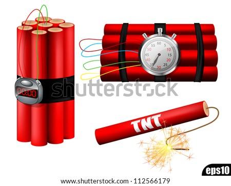 Timed bomb TNT eps10 - stock vector