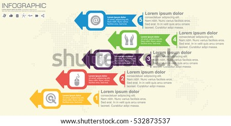 Timeline arrow vector infographic world map stock vector 532873537 timeline and arrow vector infographic world map background gumiabroncs Image collections