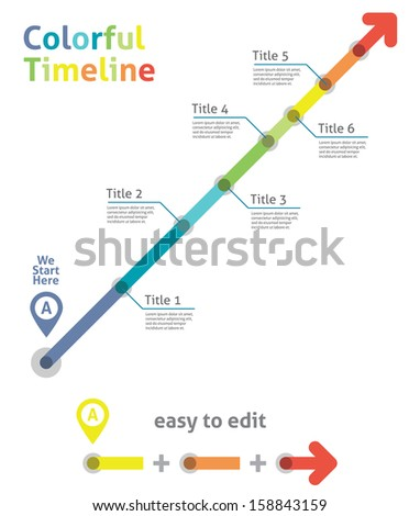 Timeline arrow - stock vector