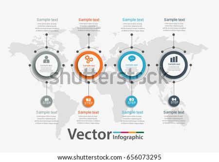Vector Infographics Timeline Design Template Can Stock Vector