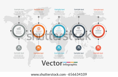 Timeline Milestone Company History Infographic Vector Stock Vector