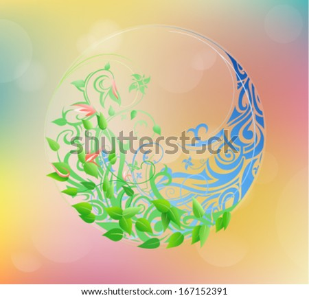 Timeline concept. A circle from winter to summer. EPS-10 - stock vector