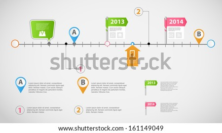 Timeline infographic business template vector illustration - stock vector