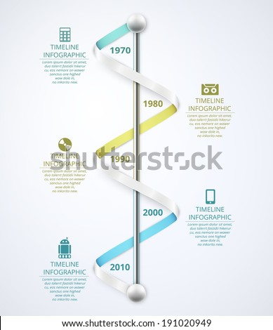 Timeline infographic template, eps 10 - stock vector