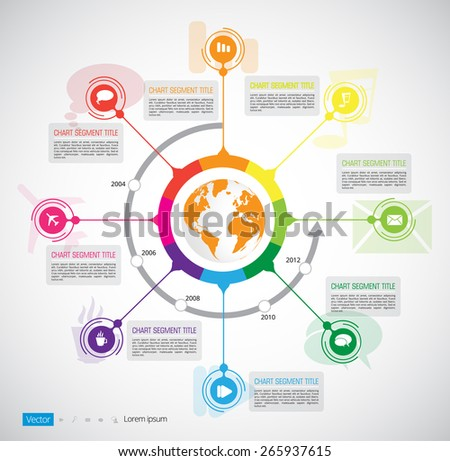 Timeline. Infographic vector - stock vector