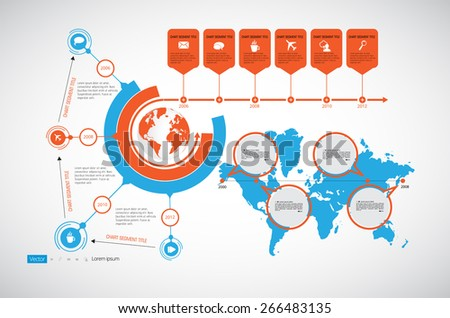 Timeline. Infographic vector