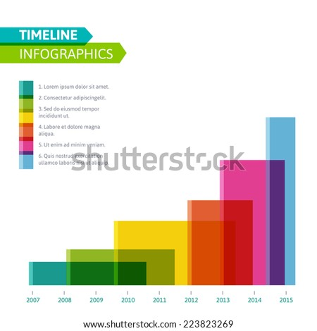 timeline resume template word free download stock vector business presentation project design format