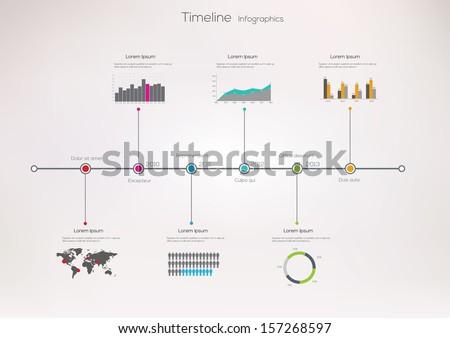 timeline infographic vector design template 157268597 shutterstock. Black Bedroom Furniture Sets. Home Design Ideas