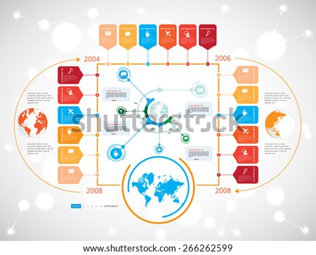 Timeline Infographic, Vector design template - stock vector