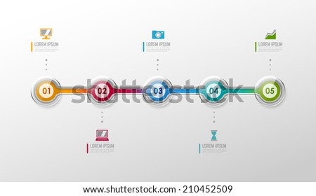 Timeline infographic. Vector template. - stock vector