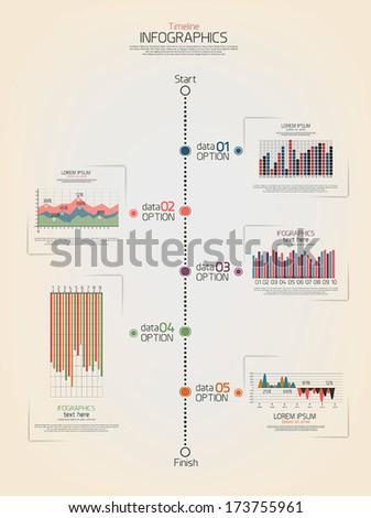 Timeline infographics design. Vector - stock vector